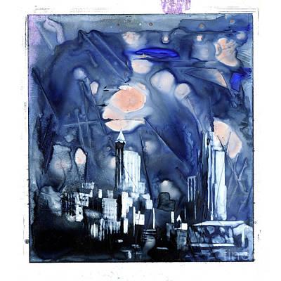 Painting - Raleigh Moonlit by Ryan Fox