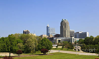 Photograph - Raleigh North Carolina Skyline by Jill Lang