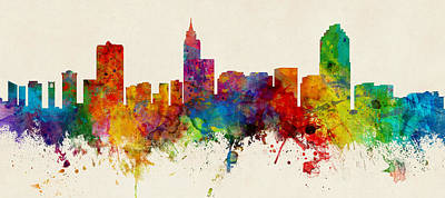 Raleigh North Carolina Skyline Panoramic Art Print