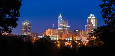 Raleigh Skyline Art Print