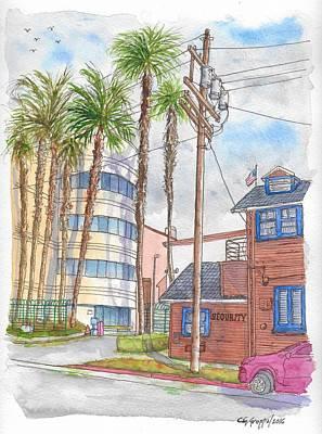 Raleigh Studios In Hollywood, California Original by Carlos G Groppa