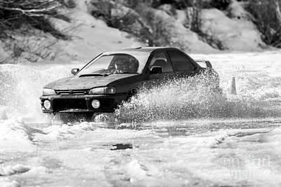 Subaru Rally Photograph - Rally Action by Alanna DPhoto