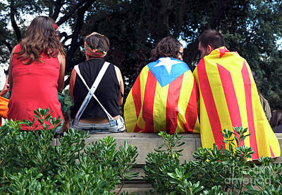 Photograph - Rally With Friends In Barcelona by John Rizzuto