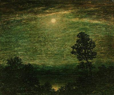 Moonlit Painting - Ralph Albert Blakelock by MotionAge Designs