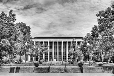 Photograph - Ralph Brown Draughon Library Black And White by JC Findley