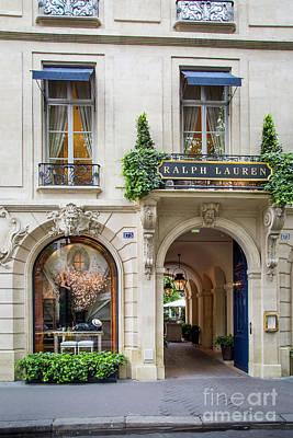 Photograph - Ralph Lauren Boutique - Paris by Brian Jannsen