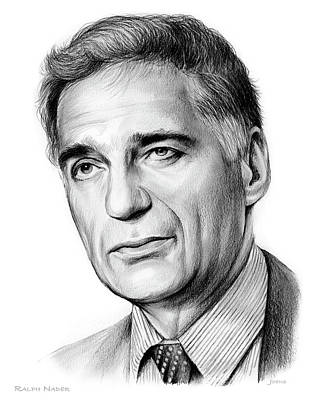 Drawings Royalty Free Images - Ralph Nader Royalty-Free Image by Greg Joens