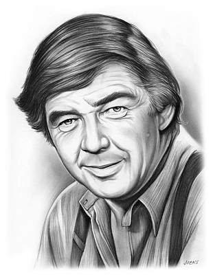 Drawings Rights Managed Images - Ralph Waite Royalty-Free Image by Greg Joens