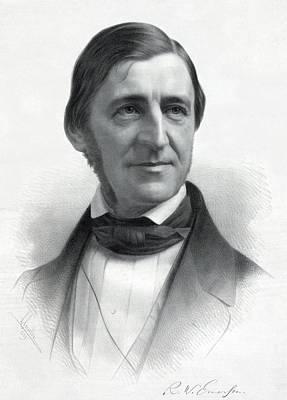 Bsloc Photograph - Ralph Waldo Emerson 1803-82 From An by Everett