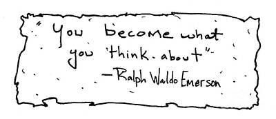 Ralph Waldo Emerson Art Print by Michael Mooney