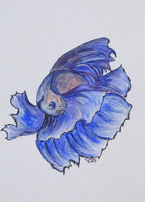 Painting - Ralphi, Betta Fish by Clyde J Kell