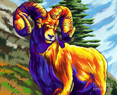 Painting - Ram Color by Tim Gilliland