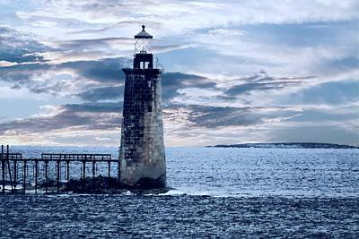 Digital Art - Ram Island Head Lighthouse.jpg by Rusty R Smith