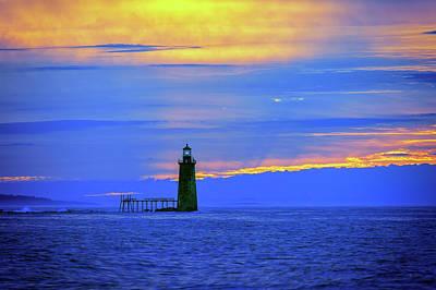 Photograph - Ram Island Ledge Light At Dawn by Rick Berk