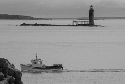 Photograph - Ram Island Ledge Light by Kirkodd Photography Of New England