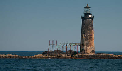 Photograph - Ram Island Ledge Light by Paul Mangold