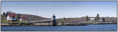 Photograph - Ram Island Light And Fisherman Island by John Meader