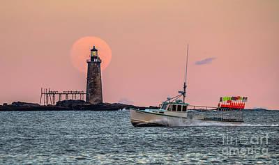 Maine Landscape Photograph - Ram Island Lighthouse by Benjamin Williamson