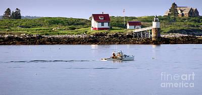 Photograph - Ram Island Lighthouse, East Boothbay, Maine #50016 by John Bald