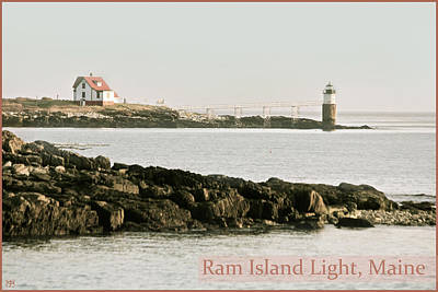 Photograph - Ram Island Lighthouse by John Meader