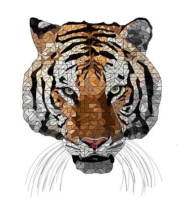 Eyes Digital Art - Rama The Tiger by David Smith