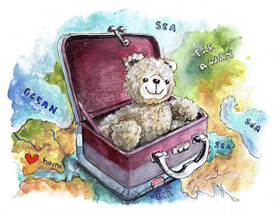 Painting - Ramble The Travel Ted by Miki De Goodaboom