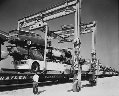 Photograph - Ramblers Readied For Freight Transport - 1960 by Chicago and North Western Historical Society