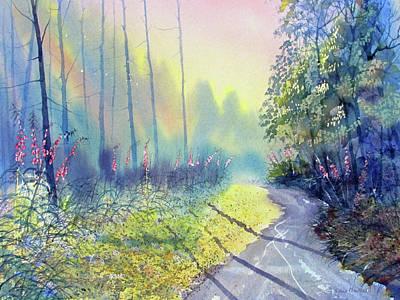 Painting - Rambling Amidst The Rosebay by Glenn Marshall