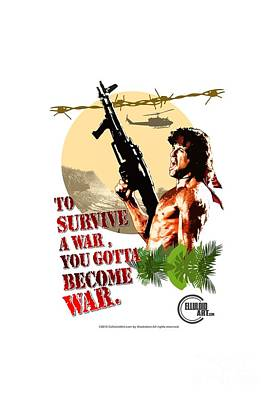 Rambo Digital Art - Rambo II by Celluloid Art