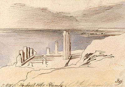 Drawing - Ramle by Edward Lear