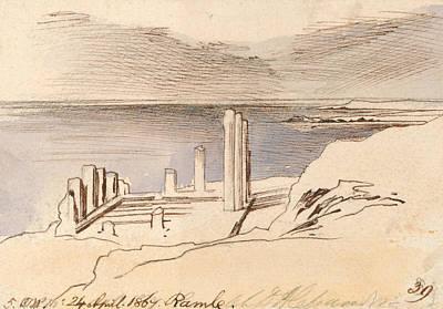 Drawing - Ramle by Edward Lear