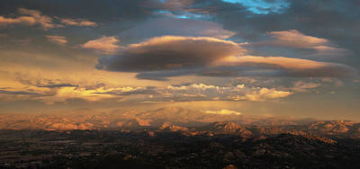 Photograph - Ramona Valley Sunset by William Dunigan