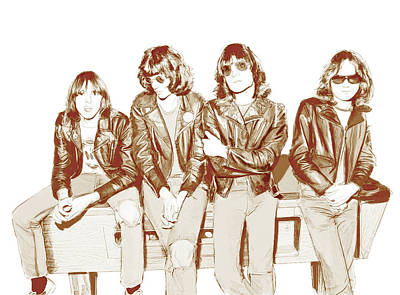 Digital Art - Ramones In The Corner Pocket by Kurt Ramschissel