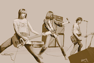Digital Art - Ramones by Kurt Ramschissel