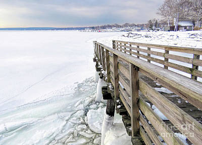 Photograph - Ramp To Frozen Harbor  by Janice Drew