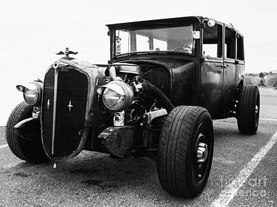 Photograph - Ratrod In B W by Steven Parker
