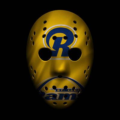 Photograph - Rams War Mask 3 by Joe Hamilton