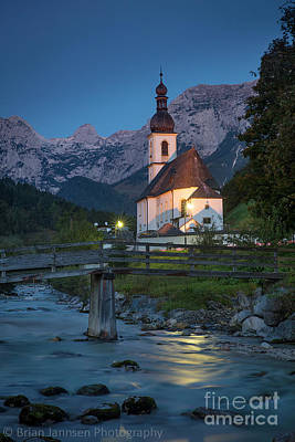 Photograph - Ramsau Church II by Brian Jannsen