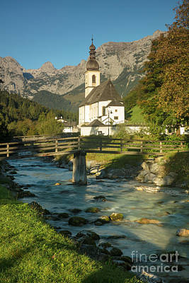 Photograph - Ramsau Church Morning by Brian Jannsen