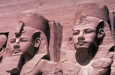 Photograph - Ramses And Queen At Abu Simbal by Carl Purcell