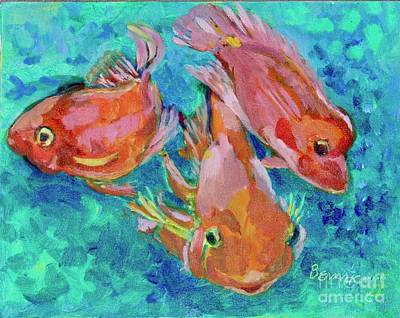 Painting - Ramshead Goldfish by Jan Bennicoff