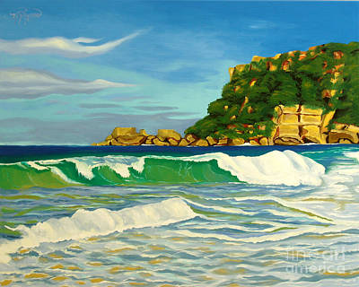 Puerto Rico Painting - Ramy Base Beach by Milagros Palmieri