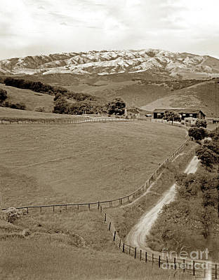 Photograph - Ranch And Mount Toro by California Views Mr Pat Hathaway Archives