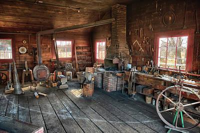 Ranch Blacksmith Shop Art Print