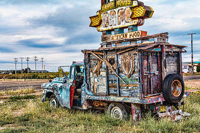 Gypsy Wagon Photograph - Ranch Cafe Truck by Steven Bateson