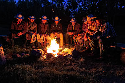 Photograph - Ranch Campfire In Wyoming by Kay Brewer