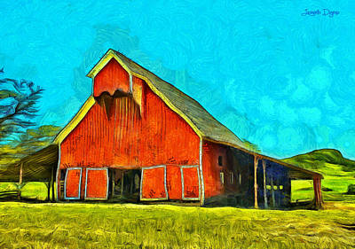 Open Doors Digital Art - Ranch - Da by Leonardo Digenio