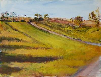 Painting - Ranch Entrance by Helen Campbell