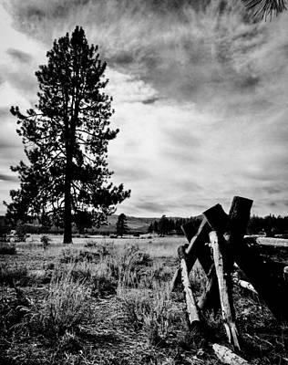 Painting - Ranch Fences by Jennifer Lake