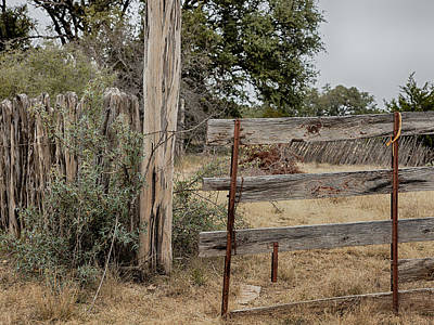 Photograph - Ranch Gate by Charles McKelroy